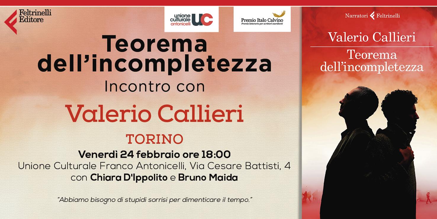 TORINO Valerio Callieri Incontro 24 febbraio ore 1800
